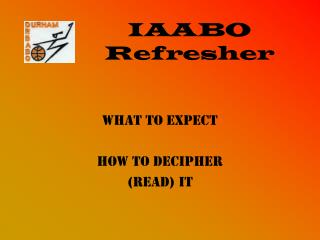 IAABO Refresher
