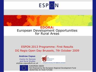EDORA: European Development Opportunities for Rural Areas