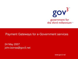 Payment Gateways for e-Government services