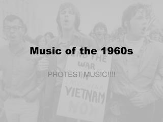 Music of the 1960s