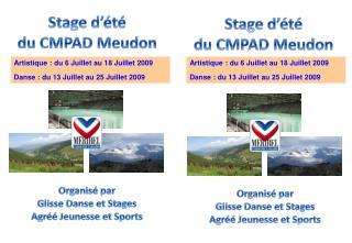 Stage d'été du  CMPAD Meudon