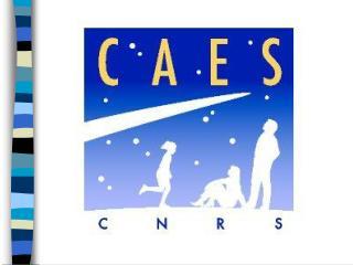 Le CAES a une organisation pyramidale à trois niveaux  le niveau nationa l les  régions  .