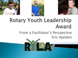 Rotary Youth Leadership Award