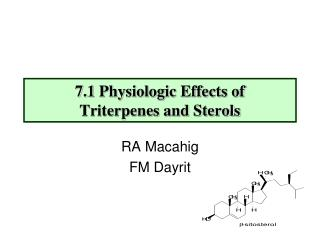 7.1 Physiologic Effects of  Triterpenes and Sterols