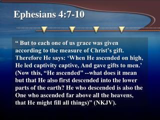 Ephesians 4:7-10