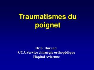Dr S. Durand  CCA Service chirurgie orthopédique Hôpital Avicenne