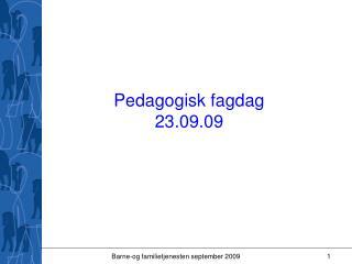 Pedagogisk fagdag 23.09.09