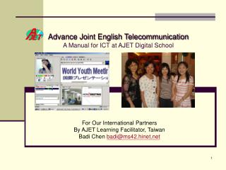 Advance Joint English Telecommunication A Manual for ICT at AJET Digital School