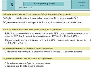 Os compostos químicos
