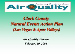 Clark County   Natural Events Action Plan (Las Vegas & Apex Valleys)