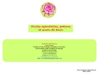 Melle BAAH Patricia Fleurs de Bougies Création et Vente de Bougies artisanales et accessoires