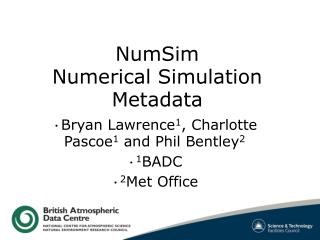 NumSim Numerical Simulation Metadata