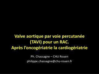 Ph. Chassagne – CHU Rouen philippe.chassagne@chu-rouen.fr