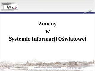 Zmiany  w  Systemie Informacji Oświatowej