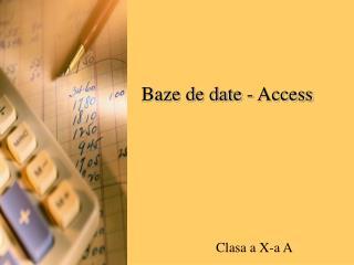 Baze de date - Access