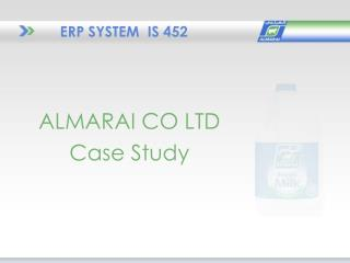 ERP SYSTEM  IS 452