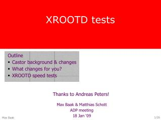 XROOTD tests