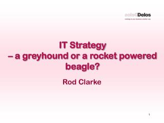 IT Strategy  – a greyhound or a rocket powered beagle?