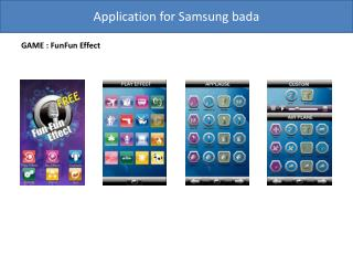 Application for Samsung  bada