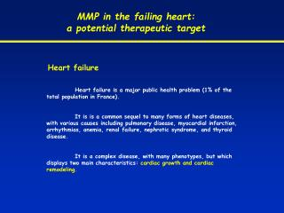 MMP in the failing heart:  a potential therapeutic target