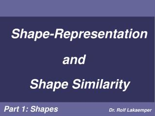 Shape-Representation