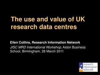 The use and value of UK research data centres