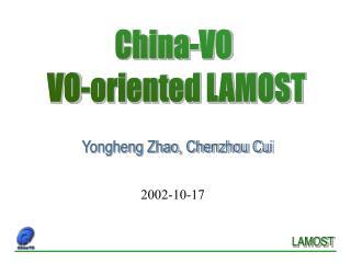 Yongheng Zhao, Chenzhou Cui