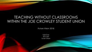 Teaching without classrooms  within the joe Crowley student union