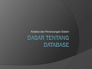 D asar tentang database