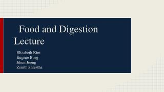 Food and Digestion Lecture