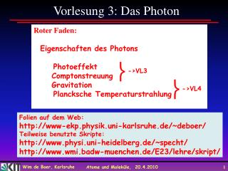 Vorlesung 3: Das Photon