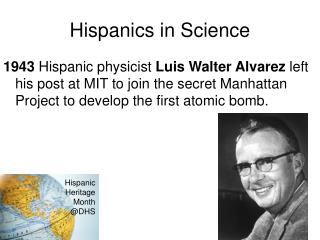 Hispanics in Science