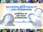 DELIVERING RACE EQUALITY DRE PROGRAMME