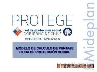 MODELO DE CALCULO DE PUNTAJE FICHA DE PROTECCI�N SOCIAL