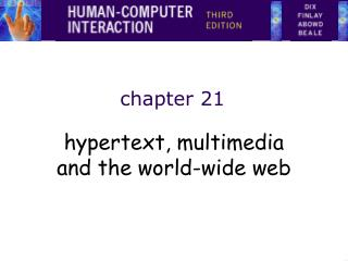 Hypertext, multimedia and the world-wide web