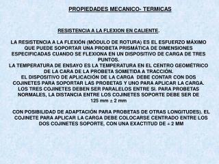 PROPIEDADES MECANICO- TERMICAS