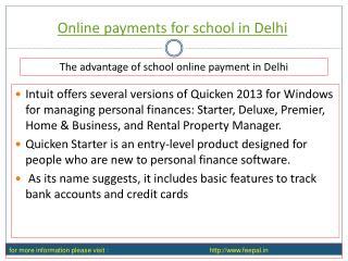Benefit of using online payment for school in delhi