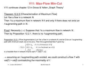 V11: Max-Flow Min-Cut
