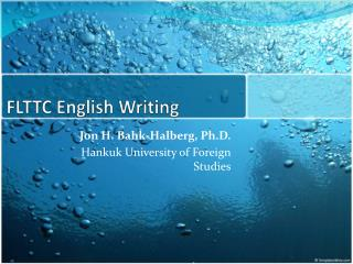 FLTTC English  Writing