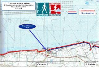 1 ère  édition de la marche nordique di Marathon de la baie du Mont Saint-Michel