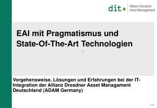 EAI mit Pragmatismus und  State-Of-The-Art Technologien