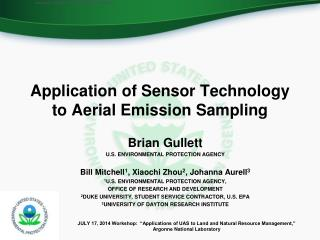 Application of Sensor Technology to Aerial Emission Sampling