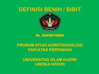Definisi Benih / Bibit