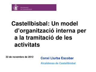 Conxi Llurba Escobar Alcaldessa de Castellbisbal
