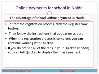 Benefit of using online payment for school in noida