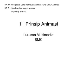 11 Prinsip Animasi