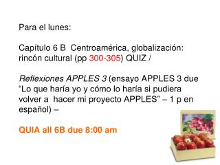 MANZANAS/APPLES