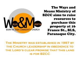 By Faith, On this site will rise: BZCC Sanctuary Offices of Pastors, Deacons and Workers