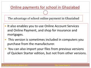 Benefit of using online payment for school in Ghaziababd