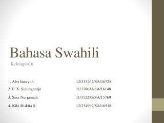 Bahasa Swahili
